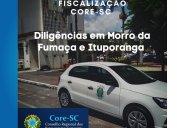 Diligências nas regiões dos municípios de Morro da Fumaça e Ituporanga nesta semana. Agentes fiscais orientam e alertam sobre obrigatoriedade do registro regular no Conselho para o exercício da profissão (Lei 4.886/65).