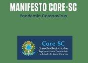 PANDEMIA CORONAVÍRUS - MANIFESTO CORE/SC -