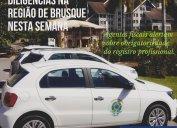 Diligências nas regiões dos municípios de Brusque e Xaxim nesta semana. Agentes fiscais do Core-SC alertam sobre obrigatoriedade do registro para o exercício da profissão.