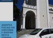 FISCALIZAÇÃO: diligências nas regiões de Criciúma e Gaspar nesta semana. Agentes fiscais do Core-SC alertam sobre a obrigatoriedade do registro no Conselho para o exercício da profissão.