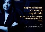 55 ANOS DA REGULAMENTAÇÃO DA PROFISSÃO. Sistema Confere/Cores lança campanha alusiva à Lei nº 4.886/65, promulgada em 09/12/65, que assegurou a atividade como profissão e direitos à categoria.