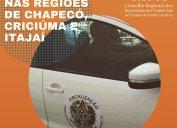 Fiscalização Core-SC: agentes fiscais em diligências nas regiões dos municípios de Chapecó, Criciúma e Itajaí nesta semana.
