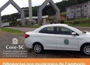 Fiscalização Core-SC: agentes fiscais estão trabalhando nos municípios de Camboriú, Tijucas e Concórdia nesta semana. Objetivo é orientar e alertar sobre a obrigatoriedade do registro regular no Conselho para o exercício da profissão (Lei 4.886/65).