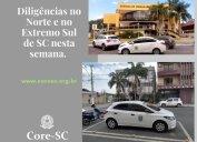 Fiscalização do Core-SC nesta semana: agentes fiscais no Extremo Sul Catarinense e nos municípios de Joinville, Jaraguá do Sul e Corupá.